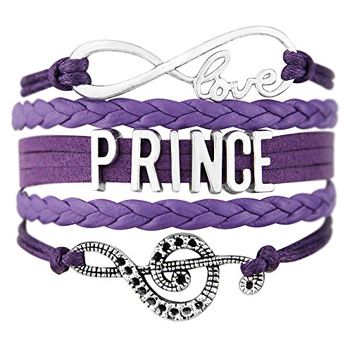 PHASSION Prince Bracelet - Purple Handmade Adjustable Wrap with Infinity Love Charm and Music Note Charms Jewelry Gift ()