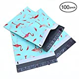 Poly Mailers 10x13, Ohuhu 100-Pack Flamingo Designer Shipping Envelopes Mailer Bag, Sealed Gifts Boutique Custom Bag Packages with Self Adhesive Strip, Water Resistant
