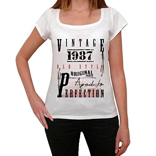 1987, camisetas mujer cumpleaños, regalo mujer cumpleaños, camisetas regalos blanco