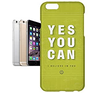 Phone Case For Apple iPhone 6 Plus - Yes You Can Motivational Quote Premium Wrap-Around by lolosakes