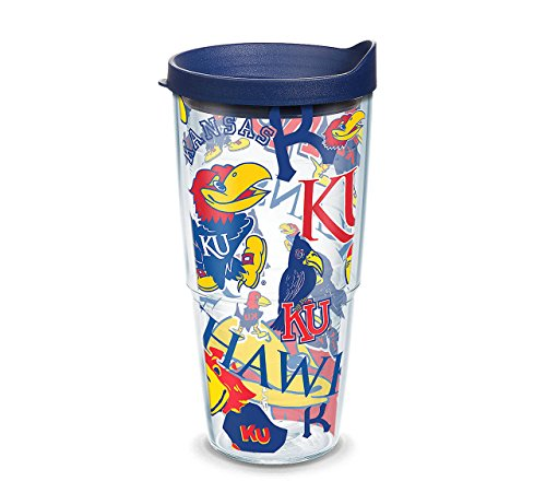 Tervis Tumbler Kansas Jayhawks All Over Wrap 24oz with Travel Lid by Tervis