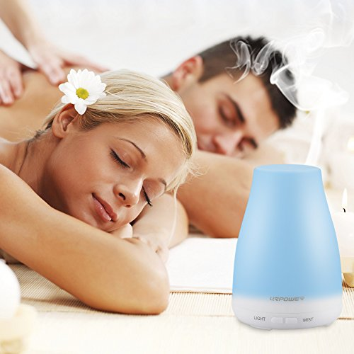 URPOWER-2nd-Version-Essential-Oil-Diffuser100ml-Aroma-Essential-Oil-Cool-Mist-Humidifier-with-Adjustable-Mist-ModeWaterless-Auto-Shut-off-and-7-Color-LED-Lights-Changing-for-Home-Office-Baby