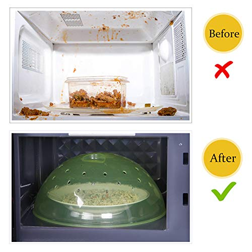 Microwave Plate Cover, Anti-Splatter Plate Lid with Steam Vents & Handle Microwave Food Cover, Food-Grade PP Material BPA-Free 2 Pack by Homich (Image #5)