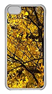 iPhone 5C Case, Personalized Custom Yellow Ginkgo Tree for iPhone 5C PC Clear Case