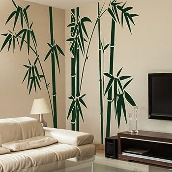 Vinyl Bamboo Wall Decal Bamboo Wall Quote Tree Wall Sticker Wall Grpahic  Home Art Decor 1