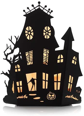 Yankee Candle Halloween Silhouettes Haunted House Multi Tea Light Candle Holder Mansion