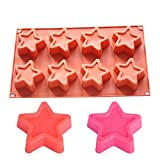 CrazyKitchenDecor 8-cavity stars chocolate christmas JOINHOT silicone cake mold bakeware set silicone moulds for cake