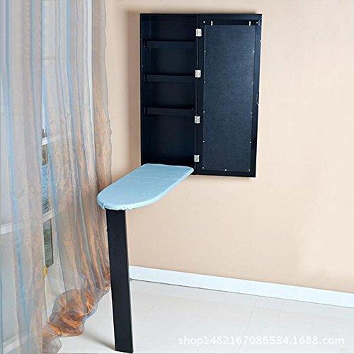 ZR-Mesa de pared En la pared Tabla de planchar Plegable Tabla de planchar Armario Tipo de almacenamiento Armario caliente...