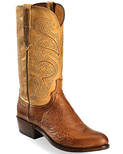 - Lucchese Men's Handmade Light Nathan Smooth Ostrich Boot Medium Toe Lt Brown 10 D
