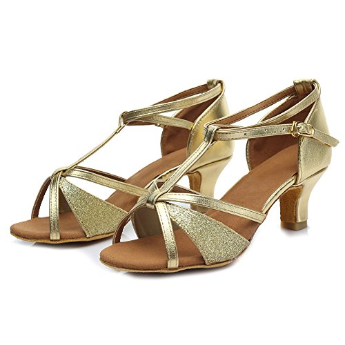 Shoes 255 Womens Shoes Roymall Latin 5cm Salsa Model Gold Ballroom Tango Dance Performance 4cSgpq
