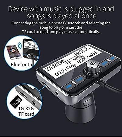 DAB 3.5mm Aux-Out+USB KFZ Ladeger/ät+TF Musik Spielen Wonsidary Auto DAB Digital Radio Adapter mit FM Transmitter Bluetooth Freisprecheinrichtung Bluetooth Audio MP3 Autoradio Empf/änger Transmitter