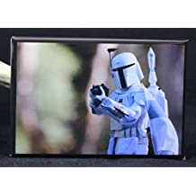 Boba Fett Prototype Armor Refrigerator Magnet. Star Wars Toy Photography