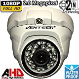 Cheap Ventech Hybrid HD 2.0MP 1080P AHD / 960H Dome Security Camera Outdoor 3.6mm Lens 24 IR LEDs ICR Auto Day Night Video Surveillance (Default 1080P Mode) CAMAHD