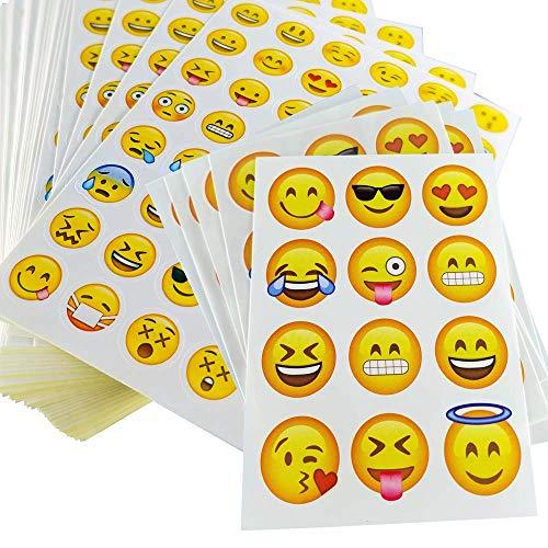 iKidoos 3132 Emoji Stickers & Emoji Tattoos | Most Popular | Emoji Party Favors for Kids]()