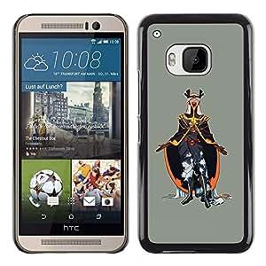 EJOY---Cubierta de la caja de protección la piel dura para el ** HTC One M9 ** --Emperador del Mal