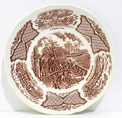 Alfred Meakin Brown Fair Winds Bread & Butter Plate - Set of 4 ()