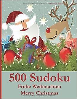 Merry Christmas German.500 Sudoku Frohe Weihnachten Merry Christmas German