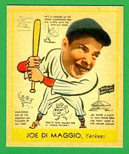 Joe Dimaggio 1938 Goudey Head Up Baseball Rookie Reprint