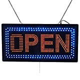 LED Open Light Sign Super Bright Electric Advertising Display Board for Message Business Shop Store Window Bedroom Barber Shop Beauty Hair Salon Nails Spa Massage 24 x 12 inches