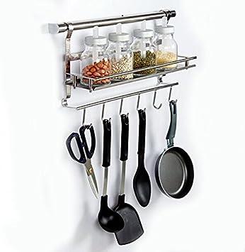 HANGO Stainless Steel Multifunctional Kitchen Wall Mounted Rack