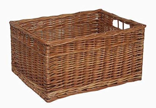 Double Steamed Open Wicker Storage Basket Large by Red Hamper