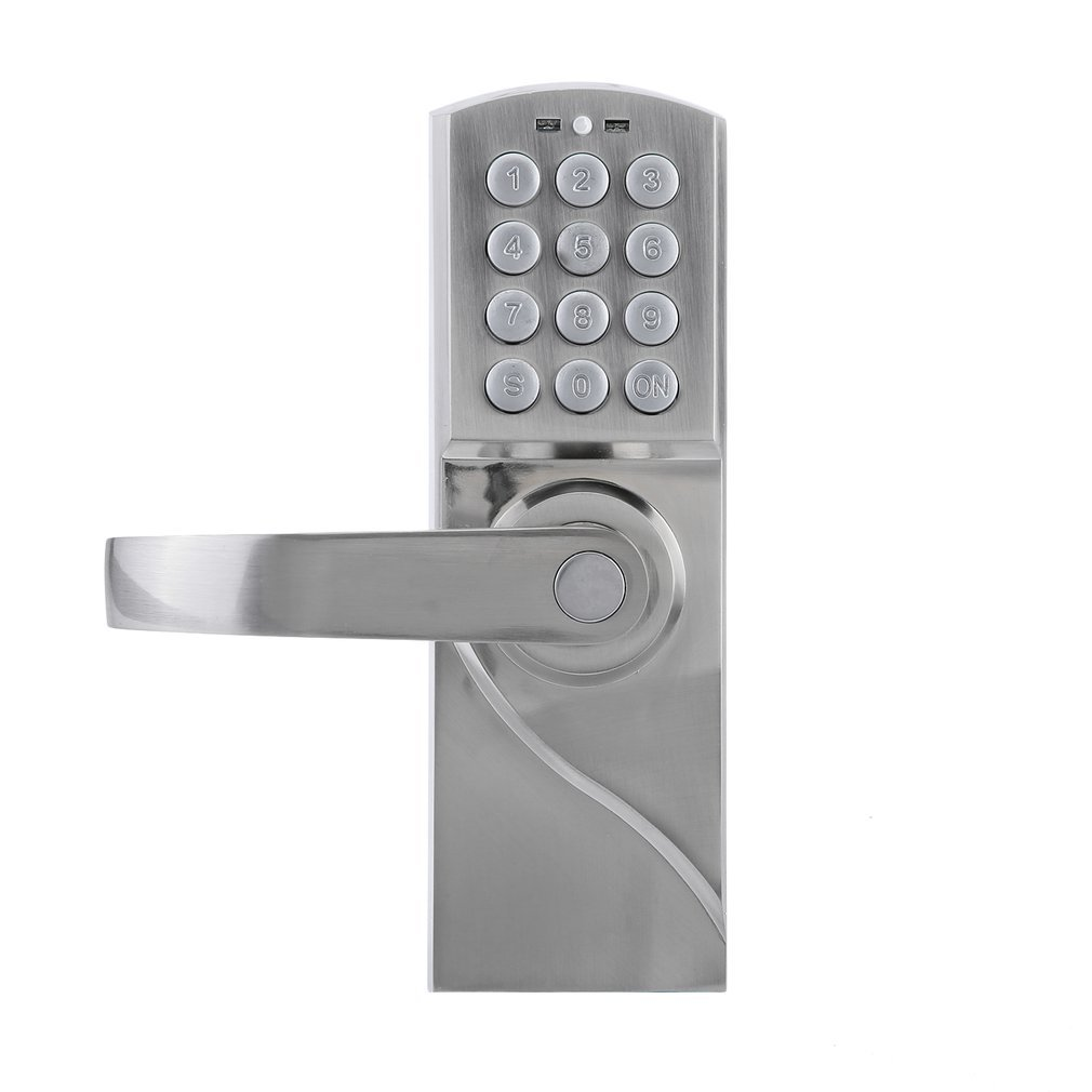 Digital Keypad Door Lock with Backup Keys, Electronic Keyless Entry by Password Code Combination(For Left Handed Doors Only)