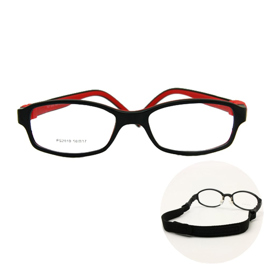 Amazon.com: EnzoDate Boy Glasses Frame with Strap Size 50