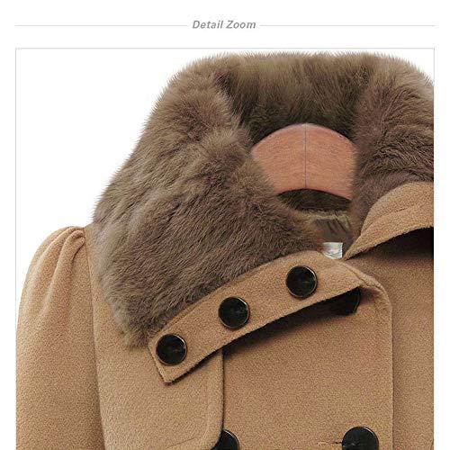 Donna s red Misto Doppio In Petto Lana Trench 2xl Cintura Navy Coat Invernale Con Cappotto Gaoqq ECqOn