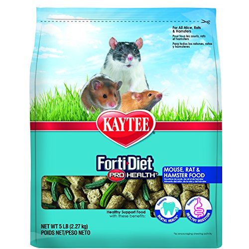 Kaytee Forti Diet Pro Health Small Animal Food for Mice and Rats, 5-Pound ()