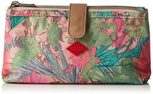Oilily FF Double Flat Cosmetic Bag OCB6121-107 Damen Kosmetiktäschchen 23x12x5 cm (B x H x T), Pink (Melon 107)