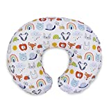 Boppy Original Pillow Cover, Colorful Animals & Rainbows, Cotton Blend Fabric with Allover Fashion, Fits All Nursing Pillows & Positioners