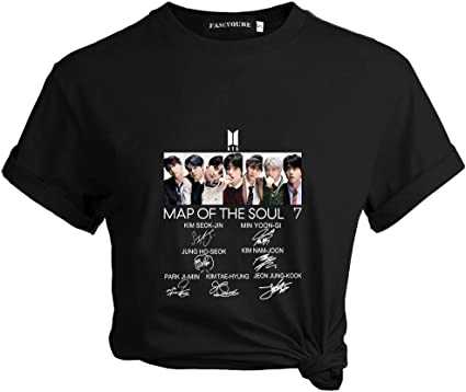 Bts New Ablum Map Of The Soul 7 The Journey Printed Short Sleeve Tee Tops