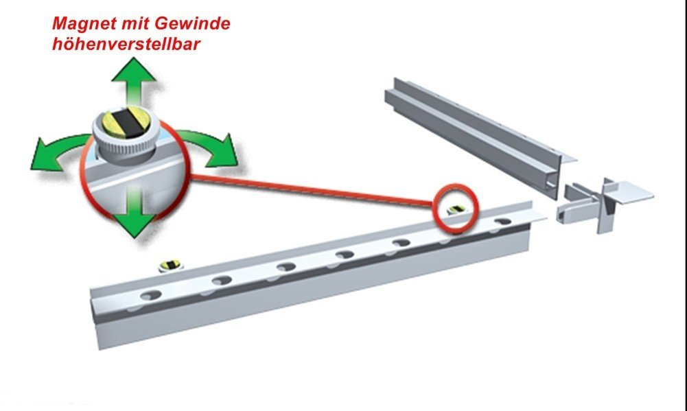 200/X 250/mm Haco porta Magnetisch befliesbar