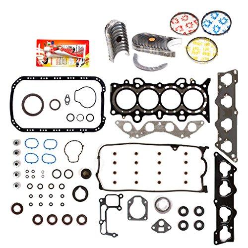 Domestic Gaskets Engine Rering Kit FSBRR4038EVE\0\0\0 Fits 01-05 Honda Civic 1.7 SOHC D17A1 Full Gasket Set, Standard Size Main Rod Bearings, Standard Size Piston Rings