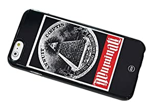 1888998520446 [Global Case] Illuminati Don't Trust Anyone Pyramid Tiger Triangles Secret Society Black White All Seeing Eye Eye of Horus The Eye of Ra Adam Weishaupt  Power La Domination Du Monde (BLACK CASE) Snap-on Cover Shell for Samsung Galaxy S Advance I9070