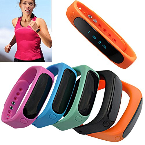 Padgene Bluetooth Smart Watch - Fitness Tracker for Samsung S5 / S6 / S6 Edge / Note 4, Google, Lg, Htc and Other Smartphones, Orange