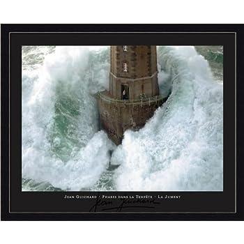 Amazon Com Phares Dans La Tempete Lighthouse Framed