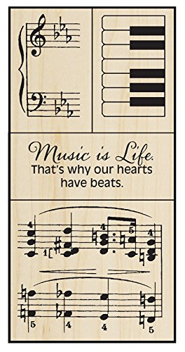 Stampendous Music Wood Stamp Set ()
