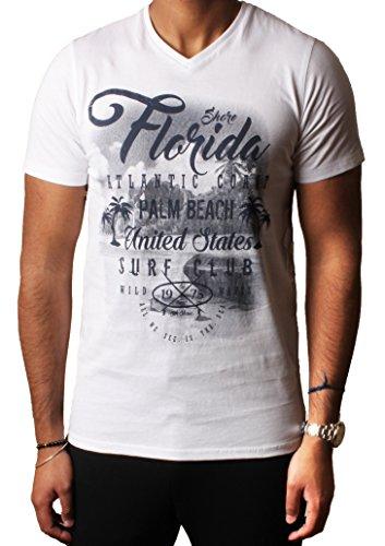 Herren Grafik Sortiert Foto drucken T-shirts Designer Baumwolle oben South Shore S-XXL,Optik Weiß,S