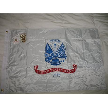United States US Army Double Sided Nylon Embroidered 2 X 3 Foot Flag