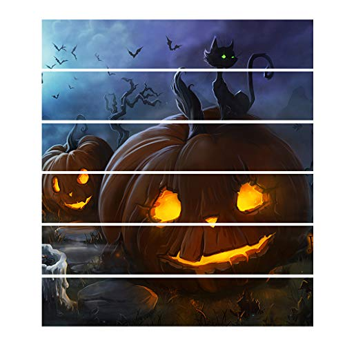 Antehome Vinilos decorativos de Halloween, Vintage Halloween Wall Stickers, Horror Horrible Peel and Stick Decal Wall Sticker,Tatuajes de pared para piso de habitación (A31) -