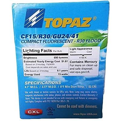 Topaz Reflector Florescent Bulbs (15): Home Improvement