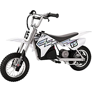Razor MX400 Dirt Rocket 24V Electric Toy Motocross Motorcycle Dirt Bike, White
