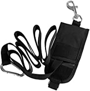 Technical Scuba Diving Jon Line Webbing Strap, Attached with Carabiner, D Ring, Bolt Snap Clip and Storage Pou
