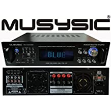 Professional 4000 Watts Hybrid Power Amplifier/Pre-Amplifier/Receiver Bluetooth AM/FM Tuner USB/SD Slot MP3/iPod Input MU-H4000BT