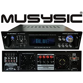 Professional 4000 Watts Hybrid Power Amplifier / Pre-Amplifier / Receiver Bluetooth AM/FM