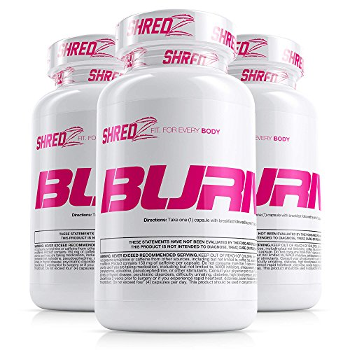 SHREDZ Fat Burner Supplement Pill for Women Lose Weight, Increase Energy, Best Way to Shed Pounds and Boost Metabolism, 180 Capsules (3 Month Supply) by SHREDZ