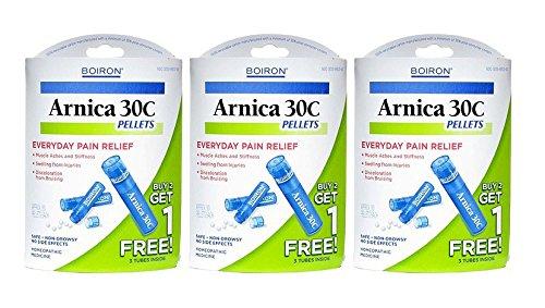 Boiron Arnica 30C Pellets (3 tube pack) (Pack of 3)