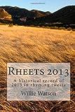 Rheets 2013, Willie Watson, 1495343790