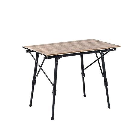 El Mesa plegable con soporte de metal negro de alta resistencia ...